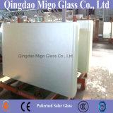 Claro extra bajo de hierro con dibujos Solar Cell El vidrio templado