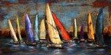 Самомоднейшая картина маслом металла корабля для Sailing