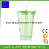 Оптовые BPA освобождают кружку мороженного, Tumbler сока двойной стены пластичный с сторновкой (SG-N001)