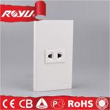 Prise électrique à 2 broches à courant électrique pour maison