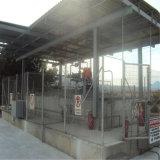 Costruzione d'acciaio della stazione di servizio di basso costo con il materiale economico