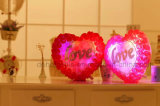 Luminous Colorful LED Love Heart Glowing Peluche Oreiller Farcies Jouets
