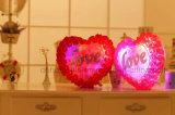 Светлый красочный светодиод горит сердца любовь мягкие подушки плюшевые игрушки игрушки
