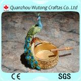 Cinzeiro animal portátil do Figurine bonito quente do pavão da venda