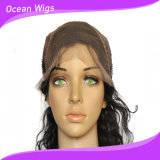 Quercy Hair 100% Peruvian Virgin Remy Cheveux Humains Body Wave Front Lace Wig