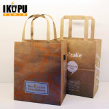 Sac à provisions fait sur commande de papier de Brown emballage avec le sac de cadeau d'impression de logo
