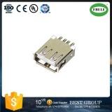 Doble fábrica directa de 90 grados individual metralla zócalo conector USB