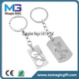 Zeer belangrijke Ketting van het Metaal van het Alfabet van Keychain van het Metaal van de douane de In het groot, Populaire Engelse