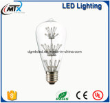 Van LEIDENE van de de lampBol gloeilampen de Uitstekende Edison Bulb LED 3W lichten van de het koperdraad van Edison van de Buizen van de Verlichting van de Bol van de Gloeiende Lichte Lichte LEIDENE E27 Gloeidraad van de Bol