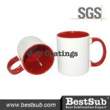 Js Beschichtung-Sublimation überfällt inneren Farben-Becher der Felgen-11oz - rotes B11taa-01