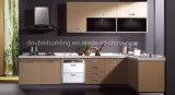 Haus verwendeter Luxuxmelamin-Küche-Schrank-Holz-Furnier-Blattschrank
