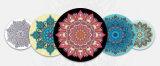Циновка йоги природного каучука печати Mandala круглая