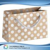 Sac de transporteur de empaquetage estampé de papier pour les vêtements de cadeau d'achats (XC-bgg-051)