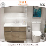 Тщета ванной комнаты MDF меламина N&L деревянная