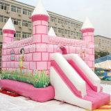 판매를 위한 분홍색 소녀 성곽 활주 팽창식 바운스 잠바