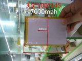 batterie d'ion de lithium de polymère de 35100145pl 3.7V 7000mAh pour la tablette PC