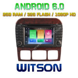 Witson octa-Core (Eight Core) Android 6.0 Car DVD voor ROM van ROM 1080P Touch Screen van Mercedes-Benz S Class 2g 32GB
