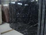 En blanco y negro/Nero Marquino losa de mármol para Window Sill/cocina/Vanidad Top/Piso/pared/escalera/fuente/Mosaico/Baluster/escultura/Chimenea