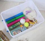 Caixa de armazenamento de plástico pesada de 75L Caixa de presente com recipiente de alimentos móveis Caixa de sapatos com rodas para produtos domésticos