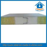"""Panneaux """"sandwich"""" en acier isolés ignifuges de toit/mur de laines de roche de cachetage d'unité centrale"""