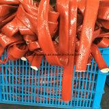 Housse de tuyau de protection thermique en fibre de verre revêtue de silicone