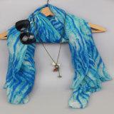 Scialle caldo del poliestere blu per l'accessorio di modo, sciarpe delle donne