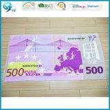Tovagliolo stampato su ordinazione 100% del punto del velluto promozionale del cotone euro