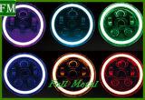 ジープのためのRGB LEDのヘッドライトを変更するラングラー電話制御カラー