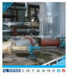 Tipo válvula de ângulo operada manual Fb45y-10/16 do disco da flange de Quanshun Wcb de Botttom do tanque nivelado