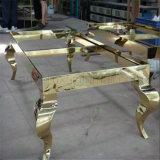 カスタムステンレス鋼の家具表の足の椅子は工場を分ける