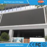 Tela video fixa ao ar livre da parede do diodo emissor de luz P6.67 para o quadro de avisos