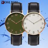 Yxl-742 2016 Men Fashion Custom Logo Relógios Atacado, Relógio de couro genuíno, Assista Men Leather
