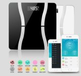 180kg / 400lb Échelle de salle de bain numérique électronique Bluetooth Analyseur de graisse corporelle