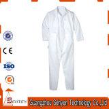 Combinaison 35%Cotton et 65%Polyester blanche de chemises d'usine de la Chine longue
