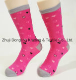 Fancy Lady dot Design Jacquard Coton Happy Socks Chaussettes de long