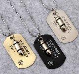 Ожерелье ювелирных изделий нержавеющей стали способа 316L армии пуль привесное