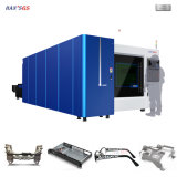 máquina de corte de fibra a laser, folha de metal para corte a laser CNC Alumínio, Aço, Chapa de Metal