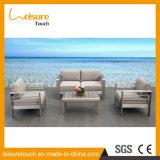 Heiße Verkaufs-Qualitäts-populärer Entwurfs-einzelnes/doppeltes Sofa stellte mit Kissen-im Freiengarten-Kaffee-Hotel-Sofa-Möbeln ein