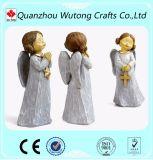 翼が付いている卸し売り居間の装飾の樹脂の妖精の置物