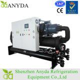 refrigerador de agua gemelo refrigerado por agua del compresor del tornillo 250ton