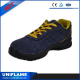 Blue Suede Leather of sport Safety Shoes Ufb056