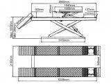 De hydraulische Dubbele Lift van de Schaar met de Goedkeuring van Ce (dx-4000A)