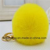 標準的なRexのウサギの毛皮の球の女の子のギフト袋の魅力のポンポン