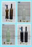 、こはく色の赤ワインのびん無鉛、750ml高い等級飲料のびん、ワイン・ボトル