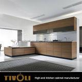 Diseñador brillante despensa de la cocina del gabinete de chapa con Big Island Tivo-0242h