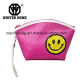 Sac cosmétique de lavage de sac d'unité centrale de grande face de sourire de Paillette de mode