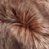 Tessuto lungo della pelliccia del mucchio lavorato a maglia pelliccia falsa del Faux della pelliccia con il mackintosh per l'indumento del bambino