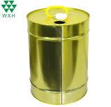 18L vide ou de lubrifiant du moteur du tambour d'huile à trou rond en métal de rétrécissement de l'étain métal du tambour de godet Seau avec couvercle en plastique