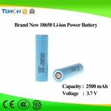 Bateria recarregável de iões de lítio 18650 3.7V 2500mAh Icr18650 Fabricantes de bateria