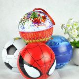 Weihnachtsplätzchen-Zinn-Kasten, Weihnachten, das Zinn-Kasten, Weihnachtssüßigkeit-Zinn-Kasten mit Kugel-Form schwenkbar lagert